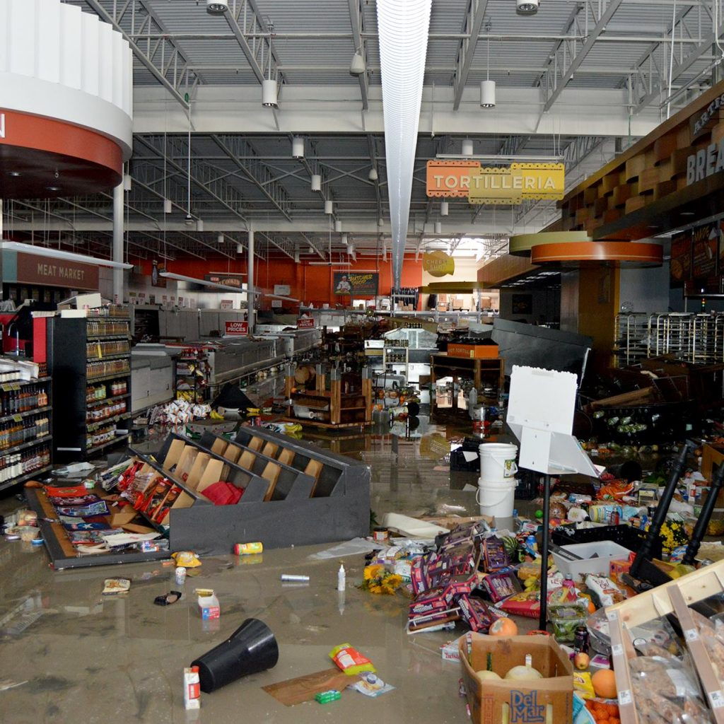 Hurricane Damage HEB Houston
