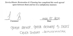 ServiceMaster Houston review - May 2020